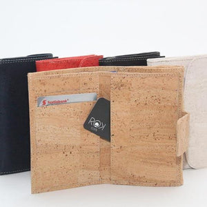 ROK Cork Sophie Grace Wallet - Navy Blue - Naturally Anti-Microbial Hypoallergenic Sustainable Eco-Friendly Cork