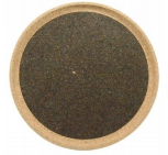 Round Tray - Black - Naturally Anti-Microbial Hypoallergenic Sustainable Eco-Friendly Cork