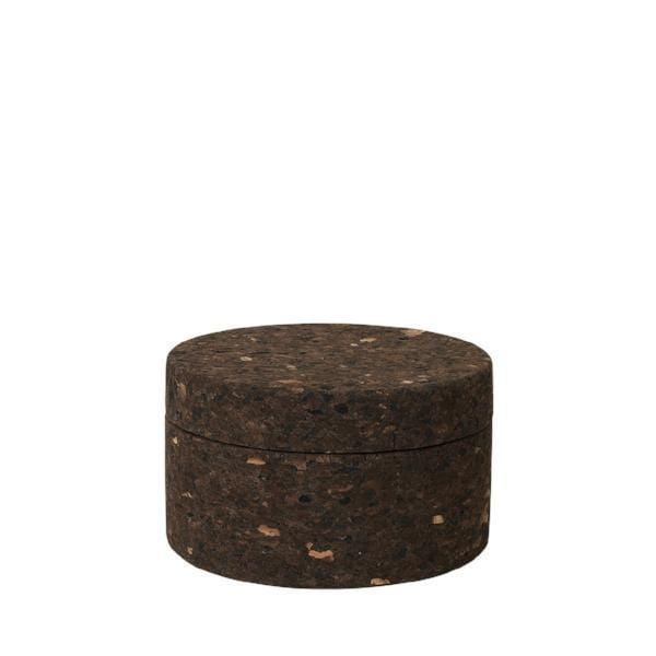 Smoked Cork Container with Lid - Naturally Anti-Microbial Hypoallergenic Sustainable Eco-Friendly Cork