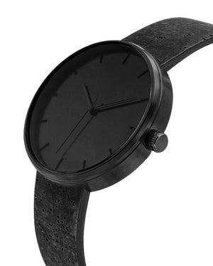 Somm Collection Watch - Black Hardware/Black Cork Band/Black Body - Naturally Anti-Microbial Hypoallergenic Sustainable Eco-Friendly Cork
