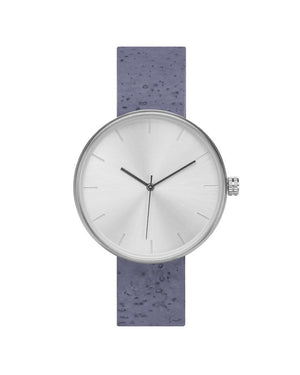 Somm Collection Watch - Silver Hardware/Blue Cork Band/Silver Body - Naturally Anti-Microbial Hypoallergenic Sustainable Eco-Friendly Cork