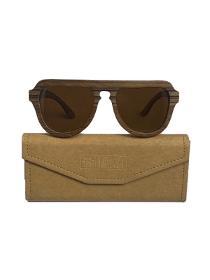 Vala Sunglasses  - Mixed Tropical Wood - Naturally Anti-Microbial Hypoallergenic Sustainable Eco-Friendly Cork