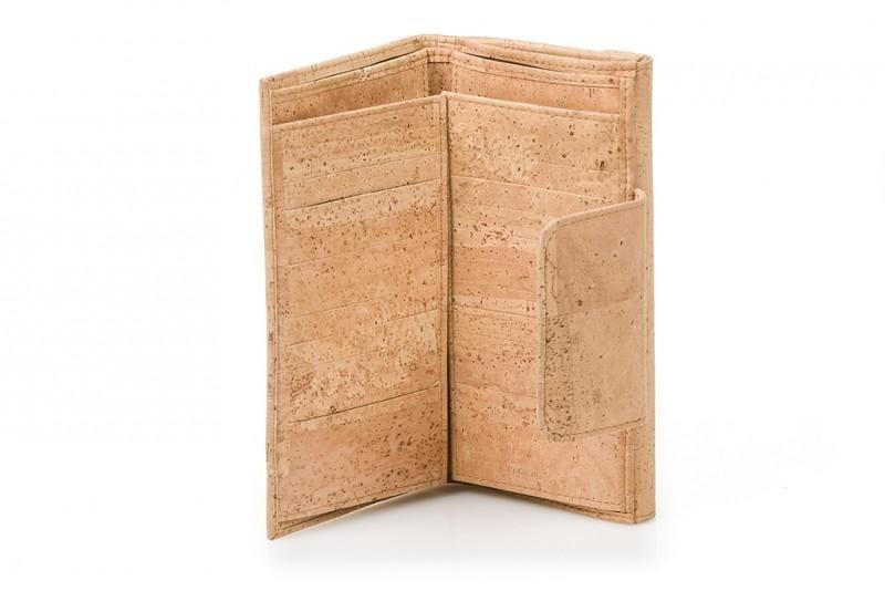Women's Cork Wallet - Naturally Anti-Microbial Hypoallergenic Sustainable Eco-Friendly Cork