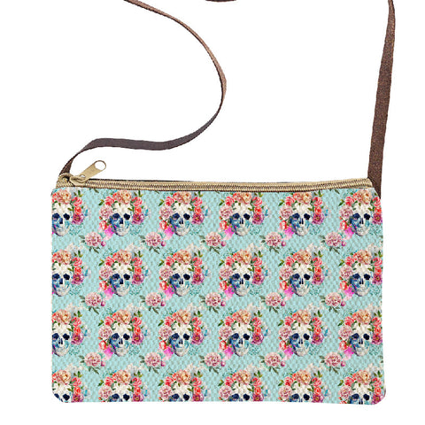Sugar Skull Graphic Print Sling Purse-Out of Stock On Order-Get on List & Pre- Pay