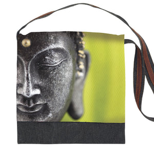 Buddha Graphic Print Messenger Bag-Out of Stock On Order-Get on List & Pre- Pay