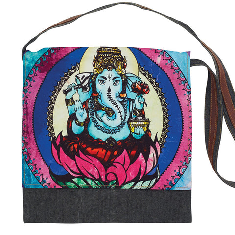 Ganesh Graphic Print Messenger Bag-Out of Stock On Order-Get on List & Pre- Pay