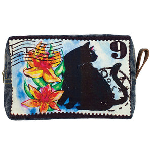 Black Cat Graphic Print Cosmetic Bag-Out of Stock On Order-Get on List & Pre- Pay