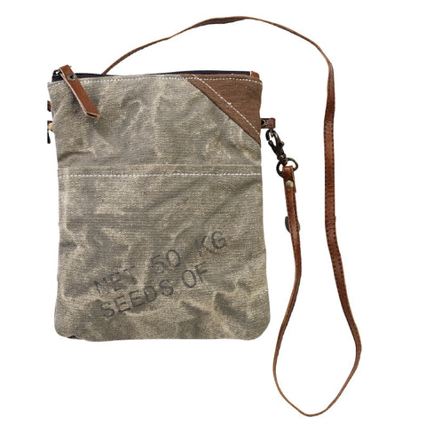 Seed Passport Repurposed Military Tent & Cavas Bag