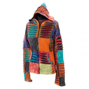 Muted Ribbed Handmade Women's Hooded Jacket