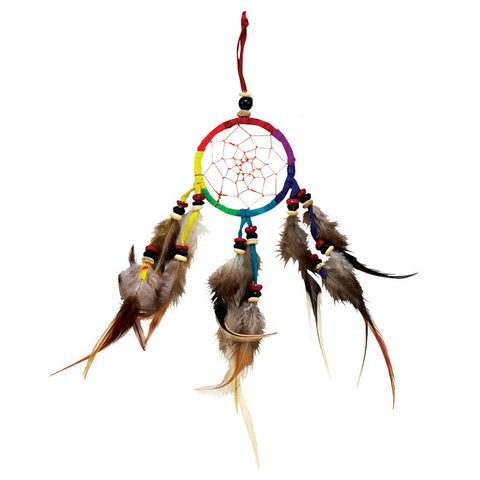Rainbow Dreamcatcher Hand Made