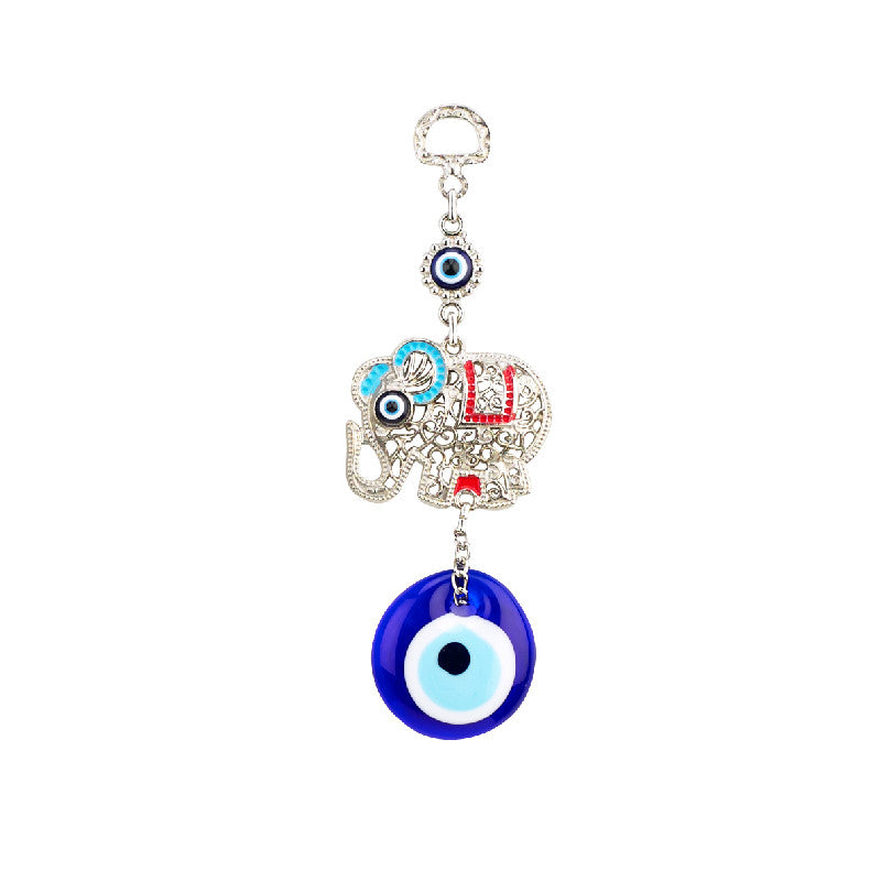 Elephant Evil Eye Hanging Charm