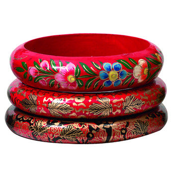 Kashmiri Bangle Bracelet- Papier Mache Handmade Fair Trade