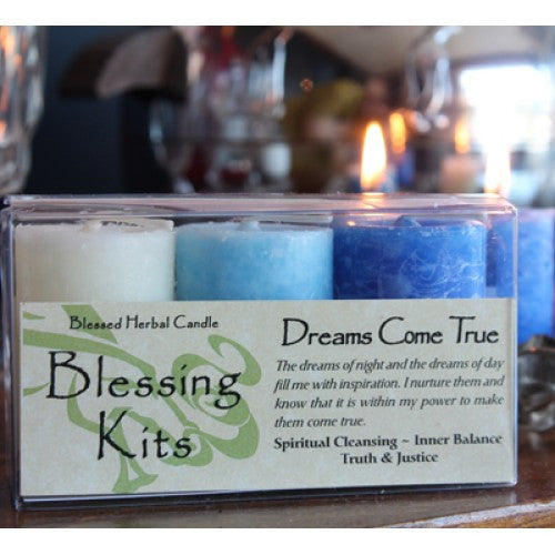 Reiki Charged Dreams Come True Hand Poured Essential Oil herb Infused Candle Kit