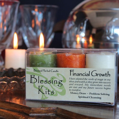 Reiki Charged  Hand Poured Essential Oil Infused Financial Growth Candle Kit
