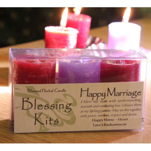 Reiki Charged  Hand Poured Essential Oil Infused Happy Marriage Candle Blessing Kit