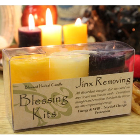 Reiki Charged Jinx Removing Hand Poured Essential Oil  Infused Blessed Candle Kit