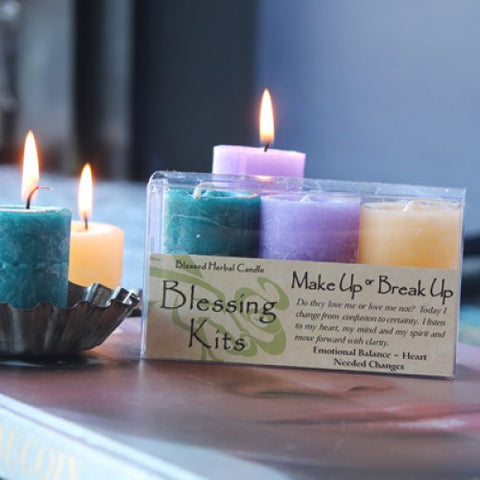 Reiki Charged Hand Poured Essential Oil  Infused Make Up or Break Up Candle Blessing Kit