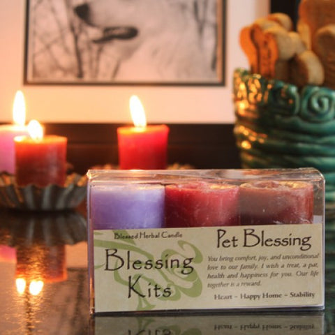 Reiki Charged Hand Poured Essential Oil  Infused Pet Votive Candle Blessing Kit