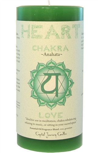 Chakra Candle-Reiki Charged Hand Poured Essential Oil Infused Heart Chakra Candle
