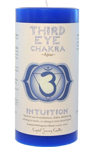 Chakra Candle-Reiki Charged Hand Poured Essential Oil Infused Third Eye Chakra Candle