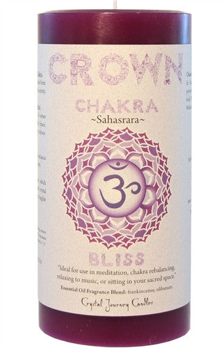 Chakra Candle-Reiki Charged Hand Poured Essential Oil Infused Crown Chakra Candle