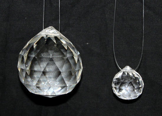 Clear Quartz Crystal Feng Shui Tear Drop Hanging Balls