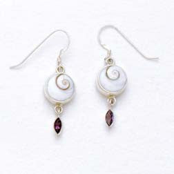 Shiva Eye with Amethyst Sterling Silver Earrings