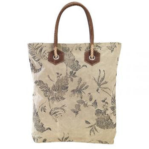 FLORAL DRAGONFLY TOTE