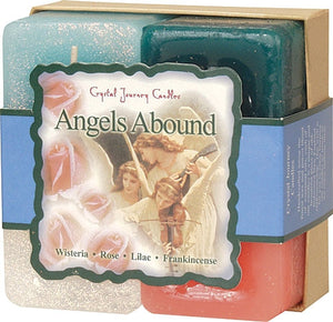Candle Set -Reiki Charged Hand Poured Essential Oil Infused Angels Abound Candle Gift Set