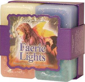 Candle Gift Set- Reiki Charged Hand Poured Essential Oil Infused Faerie Lights Candle Gift Set