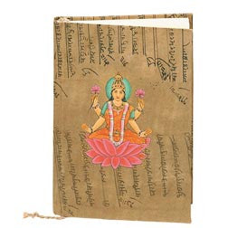 Lakshmi Hand Painted Eco-diary with tree-free recycled pages
