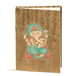 Ganasha Handpainted Eco-Diary with tree-free recycled pages