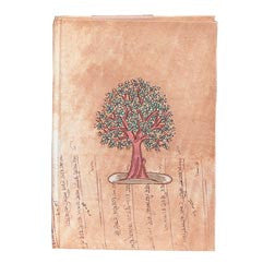 Tree Of Life Handpainted Eco -Diary with Tree Free Recycled Pages