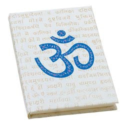 Cosmic OM Hand Painted Eco-Diary with tree-free recycled pages