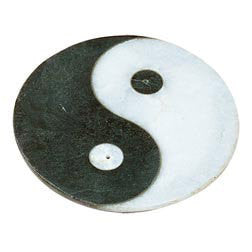 Incense Holder - Soap Stone & Alabaster Handmade Fair Trade - Yin Yang Design