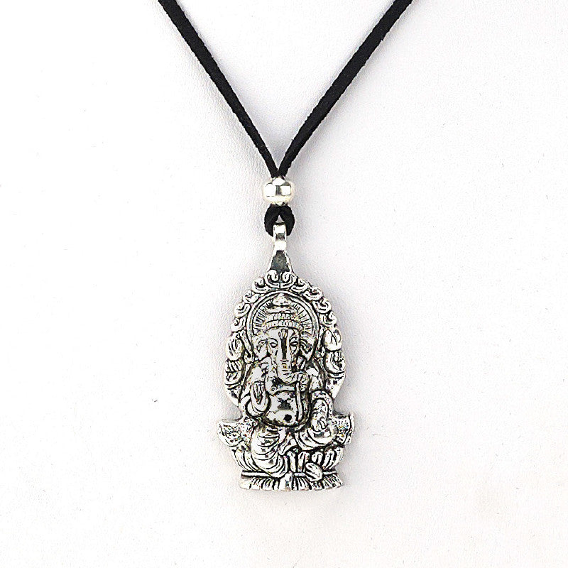 Ganasha Metal Pendant Necklace