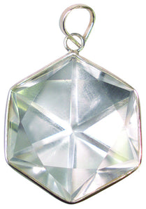 Clear Crystal Quartz Asterick Star Pendant