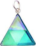 Aqua Aura Quartz  Crystal Vogel Triangle Pendant