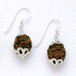 Rudraksha & Sterling Handmade Fair Trade Earrings