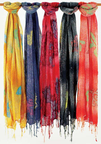 Hand Made Tie Dyed Cotton Scarves