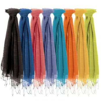 Organic Silk and Cotton Handmade Scarves