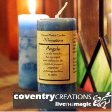 Reiki Charged Hand Poured Essential Oil Infused  Angel Affirmation Candle