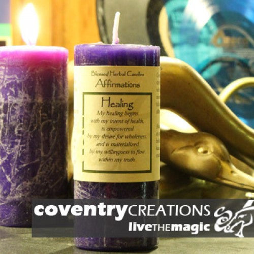 Reiki Charged Hand Poured Essential Oil Infused  Healing Affirmation Candle