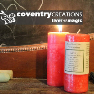 Reiki Charged Hand Poured Essential Oil Infused  Love Affirmation Candle