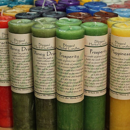 Candle-Reiki Charged Hand Poured Essential Oil Infused  Emotional Balance Pillar  Blessed Candle