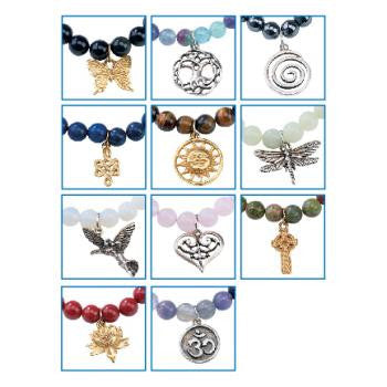 Crystal Gemstone Charmed Intention Bracelets