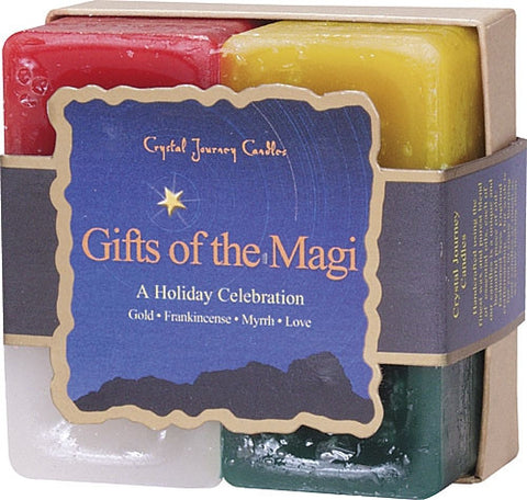Candle Gift Set-Reiki Charge Hand Poured Essential Oil Infused Gifts of the Magi Gift  Set