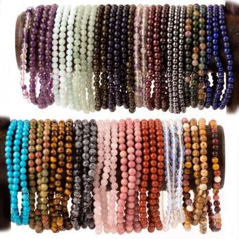 Crystal Gemstone Bracelets-Reiki Charged Quartz Crystal Gemstone Energy Bracelets