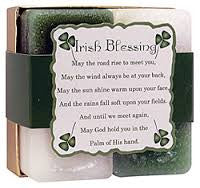 Candle Gift Set -Reiki Charged Hand Poured Essential Oil Infused Irish Blessing  Candle Gift Set