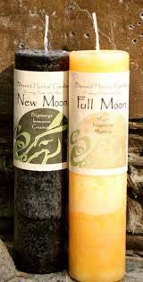 Reiki Charged Hand Poured Essential Oil Infused New Moon & Full Moon  Candles